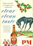 Click here to enlarge image and see more about item R3948: PM Deluxe blended whiskey ad - 1950