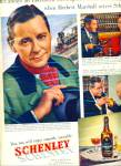 Schenley Whiskey ad HERBERT MARSHALL Actor