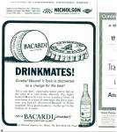 Click here to enlarge image and see more about item R4021: Drinkmates Bacardi ad  1965