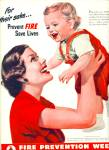 Click here to enlarge image and see more about item R4054: 1950 FIRE PREVENTION WEEK Ad For Their Sake S