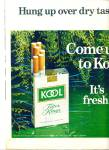 Click here to enlarge image and see more about item R4059: Kool cigarettes  ad   1969
