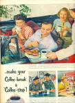 Click here to enlarge image and see more about item R4067: Coffee break -coffee stop ad     1953