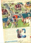 Click here to enlarge image and see more about item R4110: Pepperell sheets ad    1946 RIC HOWARD ART