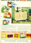1956 LANE TABLES AD Swedish OAK Cedar Chest