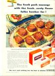 Armour star pork sausage ad - 1946