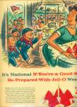 1958 BOY SCOUT Jello-O AD WHITNEY DARROW