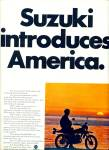 Click here to enlarge image and see more about item R4263: Suzuki introduces America ad - 1971