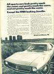 1971 American Motors Javelin AMC Car AD