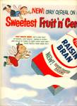 Click to view larger image of 1955 Post Raisin Bran Cereal Cartoon Print AD Kid Angel (Image1)