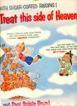 Click to view larger image of 1955 Post Raisin Bran Cereal Cartoon Print AD Kid Angel (Image2)