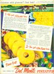 Click here to enlarge image and see more about item R4370: Del Monte Pineapple ad - 1946