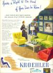 Kroehler Furniture ad    1945