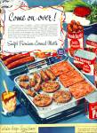 Click here to enlarge image and see more about item R4485: Swift's Premium canned meats ad 1950