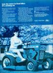 Click here to enlarge image and see more about item R4549: Ford lawn tractor ad 1969 BEAUTY RIDING