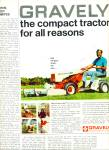 Click here to enlarge image and see more about item R4550: Gravely lawn tractor ad   1969