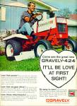 Click here to enlarge image and see more about item R4560: Gravely lawn tractor ad - 1968