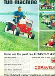 Click here to enlarge image and see more about item R4567: Gravelly lawn tractor  ad   1968