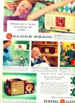 Click here to enlarge image and see more about item R4601a: General Electric clock radio ad - 1955