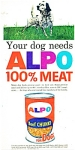 Click here to enlarge image and see more about item R4606: Alpo dog food ad   1963