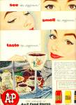 Click here to enlarge image and see more about item R4609: A & P food stores ad - 1954