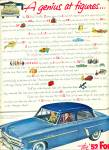 The 1952 Ford car  ad
