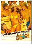 1981 COPPERTONE AD Flash Em Model and GUYS