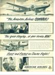 Click here to enlarge image and see more about item R4759: American Airlines ad  - 1948 CONVAIR FLAGSHIP