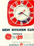 General electric Kitchen clock - 1954 ad