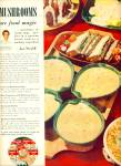 Campbell's Mushroom soup ad - 1953