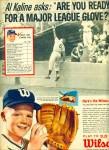 Click here to enlarge image and see more about item R5095: 1963 Wilson Baseball AD AL KALINE DETROIT