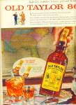 Old Taylor bourbon whisky ad
