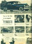 Click here to enlarge image and see more about item R5153: Plymouth automobile ad - 1949