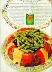 Click here to enlarge image and see more about item R5223: Del Monte Green beens pizzarino ad - 1964