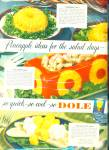 Click here to enlarge image and see more about item R5247: Dole pineapple juice ad   1949