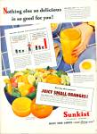 Click here to enlarge image and see more about item R5314: Sunkist California oranges ad - 1945