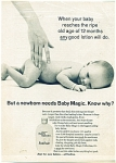 1967 Baby Magic ad NUDE CUTE BABY