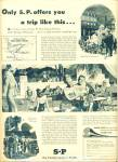 Click here to enlarge image and see more about item R5409: 1948 Southern Pacific Railroad AD POOL ART