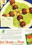 Click here to enlarge image and see more about item R5556: Del Monte early garden Peas ad  - 1952