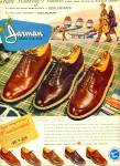 1950 Jarman Men's SHOE AD Travel TWA