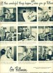 1950 Go PULLMAN TRAIN AD Relaxation