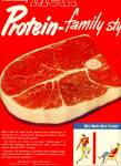 Nourishing meat protein family style ad  1950