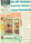Westinghouse refrigerator ad - 1957