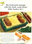 Armour pork sausage ad   - 1947 DINNER FOR SIX