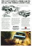Scout automobile ad INTERNATIONAL HARVESTER