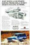 Click here to enlarge image and see more about item R7348: Scout car ad    1979