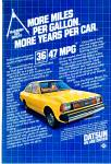 Click here to enlarge image and see more about item R7368: Datsun automobile ad