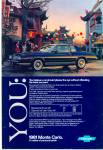 Click here to enlarge image and see more about item R7379: Monte Carlo Chevrolet for 1981 ad