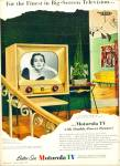 Click here to enlarge image and see more about item R7393: Motorola TV  ad    1954
