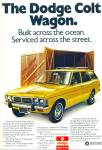 Click here to enlarge image and see more about item R7484: The Dodge Colt Wagon ad  1973