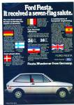 Ford Fiesta for 1986 ad